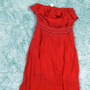 NEW No Bounderies M 7-9 Red Halter Summer Dress
